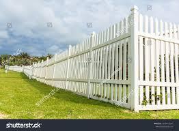 White Boundary Vertical Slat Plastic Pvc Stock Photo Edit Now 1290614242