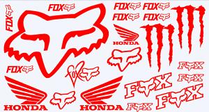 Fox Racing Vinyl Decal Sticker 21 Stickers Set Cars Atvs Mx Racing Ebay