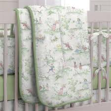 sage green nursery rhyme baby bedding