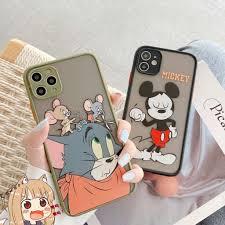Ốp Điện Thoại Hình Chuột Mickey Và Mèo Đáng Yêu Cho Iphone 11 Iphone 11 Pro  Max Xs Xr I 8 I 7 Plus