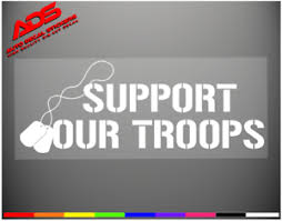 Support Our Troops Car Decal Window Sticker Veteran Army Marines Navy Flag 109 Ebay