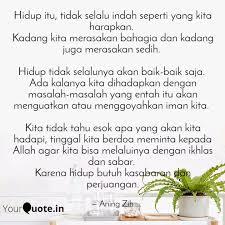 hidup itu tidak selalu i quotes writings by nidashfa