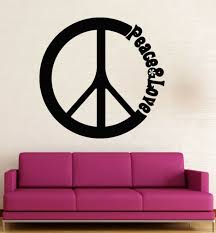 Wall Stickers Vinyl Decal Peace Love Hippie Pacifism Decor Ig1537 For Sale Online
