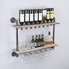 fodue rustic wall mounted wine racks