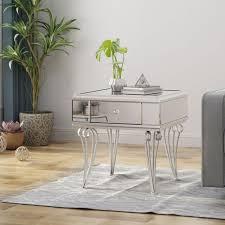 ophelia modern mirrored coffee table