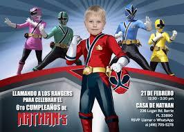 Convierte A Tu Pequeno En Su Favorito Power Ranger Invitacion De