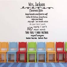Personalized Teacher Decoration Classroom Vinyl Decor Wall Decal Customvinyldecor Com