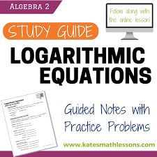 logarithmic equations with logs on one