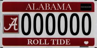 Collegiate License Plates Alabama Department Of Revenue