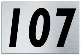 Number 107 Contemporary House Plaque Brusher Aluminium modern door ...