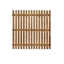 Flat Picket Garden Fence Panels 2ft 3ft 4ft High Round Top Pointed Top Ebay
