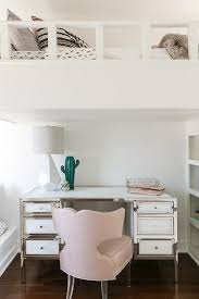 Pink Chair With Lucite Legs At Kids Desk Transitional Girl S Room
