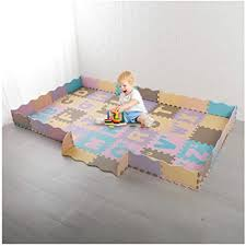Amazon Com Sallymonday Large Baby Foam Play Mat With Fence 54 Piece Set 94 5x59 Inches Expand Interlocking Kid S Floor Puzzle Colorful Alphabets Eva Tiles Waterproof Non Slip For Playroom Nursery Toys Games