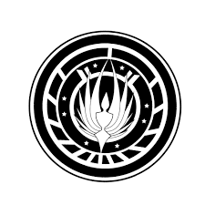 Battlestar Galactica Inspired Badge Vinyl Sticker Car Decal