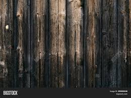 Dark Wooden Fence Image Photo Free Trial Bigstock