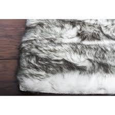 thick warm faux sheepskin area rug