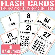 printable ten frame flash cards easy