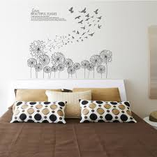 Bed Room Dandelion Wall Decals American Wall Decals