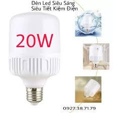 CÓ SẴN) Bóng đèn LED trụ tròn siêu sáng - Công suất 20W - chất liệu nhựa  chống cháy cao cấp