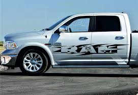 2pcs Side Stripe Racing Graphics Vinyl Body Large Decal Sticker Fit To Dodge Ram Ebay In 2020 Dodge Ram Large Decal Dodge