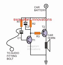 simple car burglar alarm circuit