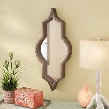 mistana padang wood framed wall mirror