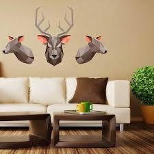Origami Deer Wall Decal Set By Chromantics