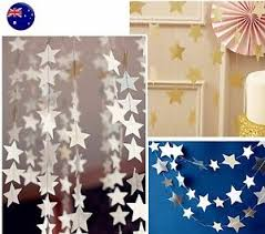 4m Paper Star Wedding Birthday Party Baby Kids Room Hanging Decorations Garland Ebay