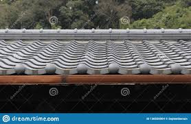 Details Of A Traditional Japanese Roof Stock Photo Image Of Leaf Japan 136550564