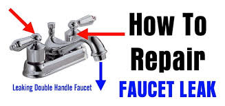 repair a leaking double handle faucet