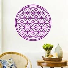 Wall Decal Sticker Flower Of Life Great Flower Of Life Yoga Reiki Spirituality Vinyl Bedroom Art Decor Wall Stickers Aliexpress