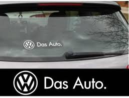 Amazon Com Vw Das Auto Tail Decal Side Decal 2pcs Set 25cm White Kitchen Dining