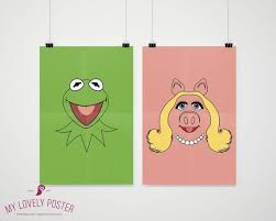 Miss Piggy Poster The Muppets Kids Room Playroon Decor Etsy Lovely Poster Video Game Decor Muppets