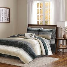 taupe watercolor coverlet king