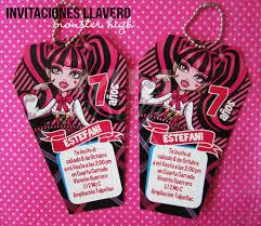 Invitaciones Llavero Monster High Mm Detalles Flickr
