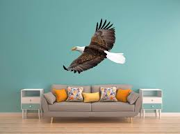 Amazon Com Lets Print Big Bald Eagle 2 Wall Decal Repositionable Inside 12 H X 13 4 W Home Kitchen