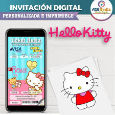 Hello Kitty Invitacion Digital Imprimible 29 00 En Mercado Libre