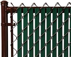 Amazon Com Tube Slats Privacy Inserts For Chain Link Fence Double Wall Vertical Bottom Locking Slats For 5 Fence Height Green Garden Outdoor