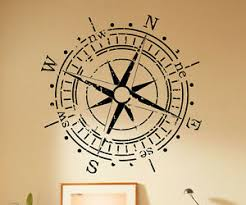 Compass Wall Decal Wind Rose Marine Vinyl Sticker Removable Art Decor 53 Nse Ebay