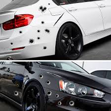 Speedwow 1pcs Car Stickers 3d Bullet Hole Funny Decal Car Covers Motorcycle Scratch Realistic Bullet Hole Waterproof Stickers Ziloqa Inc Makeup Healthcare Products Surgicalmask Pm2 5mask Kn95mask Facemask