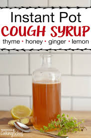 cough syrup with fresh thyme