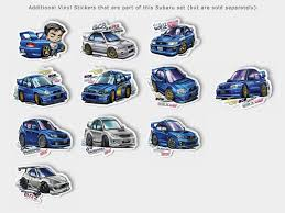 Bunta Fujiwara Subaru Gc8 Impreza Wrx Sti Type R Blue Character Vinyl Yanimatorart
