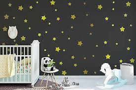 Metallic Gold Star Wall Decals Retro Stars Vinyl Wall Decals Confetti Stars Ebay