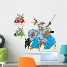 Knight And Horse Wall Decal Sticker Set Wallmonkeys Com
