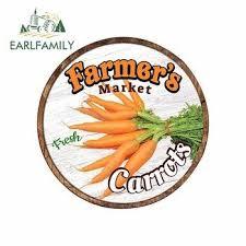 Earlfamily 13cm X 13cm For Farmer S Market Carrots Sign Funny Car Stickers Bumper Rv Van Fine Decal Jdm Vinyl Car Accessories Online Anekdotiskt Se