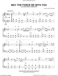 Williams - May The Force Be With You (from Star Wars: A New Hope) sheet  music for accordion
