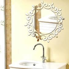 acrylic mirror sun shape wall sticker