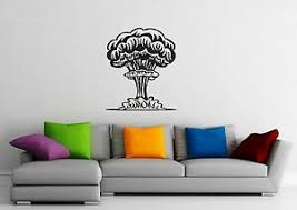Vinyl Decal Explosion Atomic Bomb Disaster Wall Stickers Mural Ig1342 753677078918 Ebay