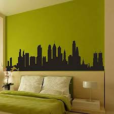 Wall Stickers Murals Battoo Philadelphia Pennsylvania City Skyline Silhouette Wall Decal Vinyl Sticker Art Home Decor For Living Room 16 H X 57 W Black Wall Stickers And Murals Wall Stickers And