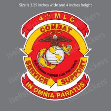 4th Marine Logistics Group Usmc Bumper Sticker Vinyl Window Decal